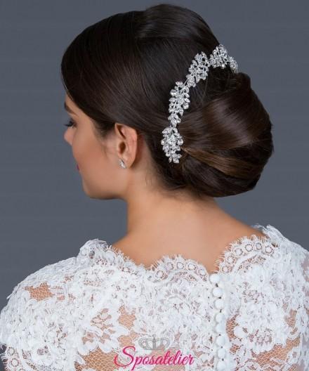 Pettine sposa di tendenza 2019 decorato con strass e cristalli scintillanti