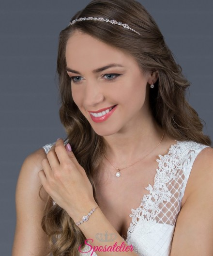 diadema sposa acconciatura moderna o classica collezione 2019