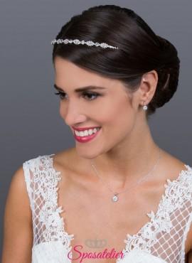 diadema sposa online per acconciatura  collezione 2019 placcata argento