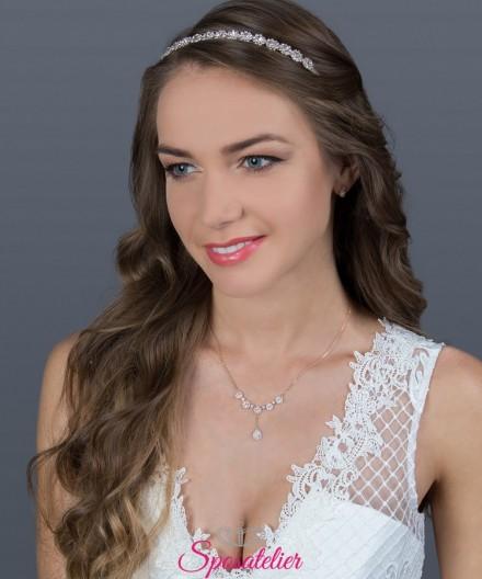 diadema sposa online per acconciatura moderna collezione 2019