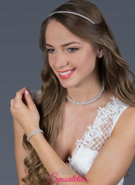 cerchietto sposa online per acconciatura con strass collezione 2019