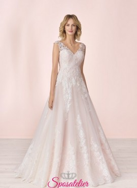 abiti da sposa a line colorati di tendenza 2020 sartoria italiana