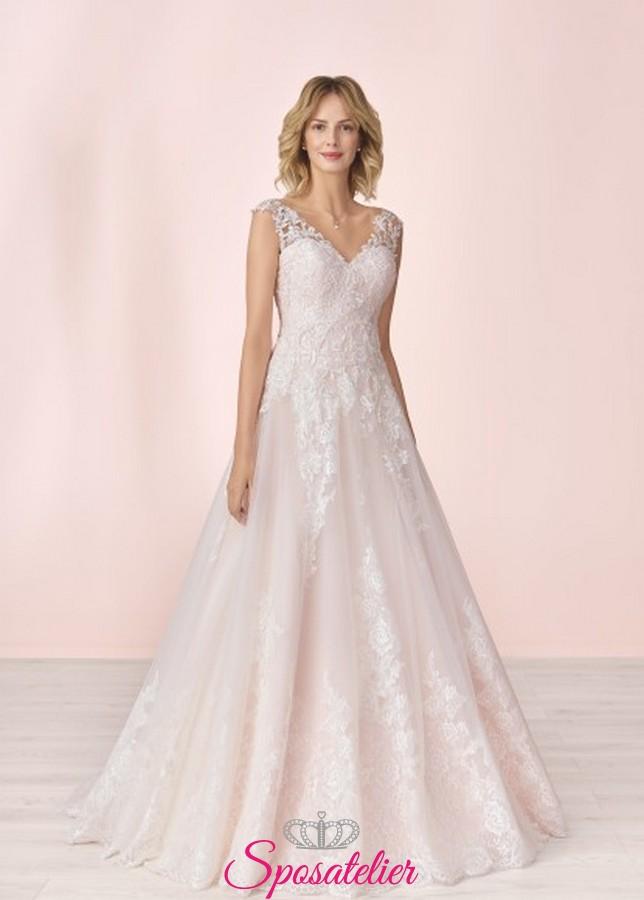 b3ab38d397641e abiti da sposa a line colorati di tendenza 2020 sartoria italiana