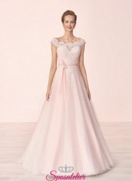 12106b52d1ef abiti da sposa vendita online modelli rosa colorati di tendenza sartoria  italiana