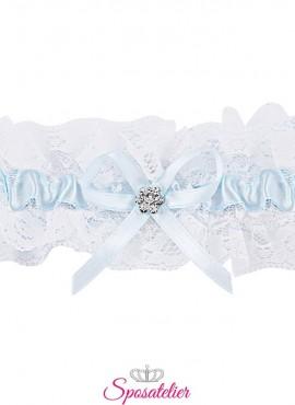 Giarrettiera sposa online azzurra economica elegante