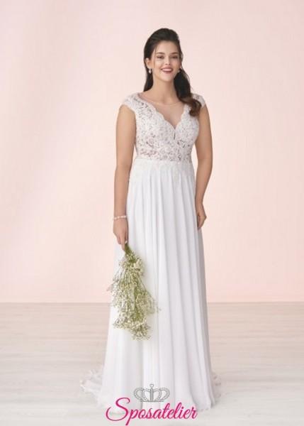 anali-abito da sposa a-line in tulle ricamato con pizzo pailette e strass