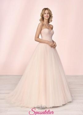 vestito da sposa colorato online con scollo a cuore collezione 2020