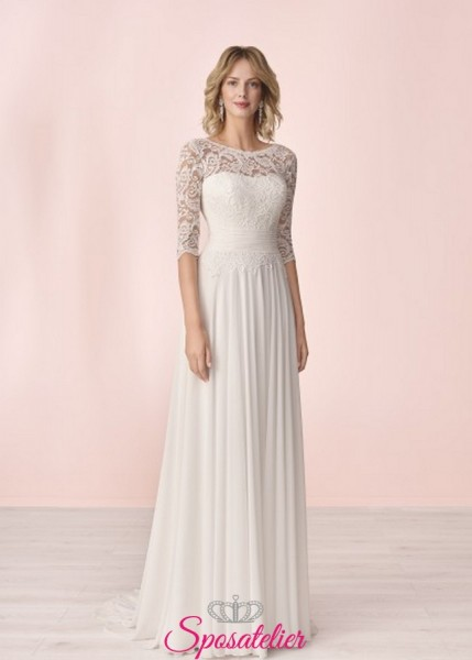 vestito da sposa economico online semplice con gonna morbida collezione 2020