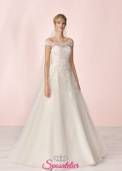 vestito da sposa economico online da principessa elegante