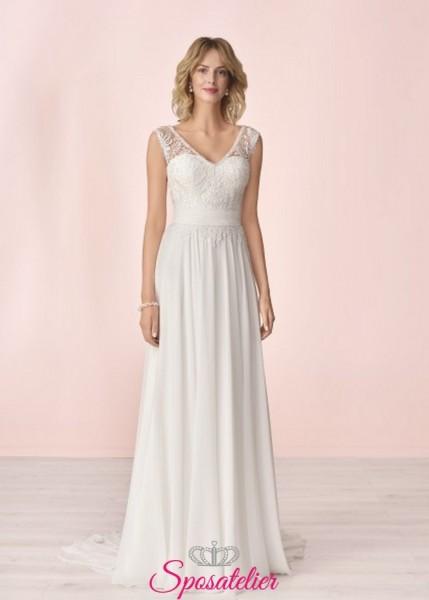 vestito da sposa economico online con scollo a v collezione 2020