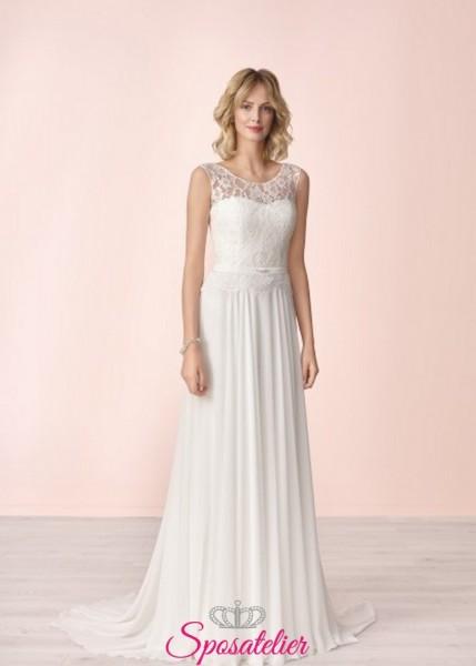vestito da sposa economico online semplice elegante collezione 2020