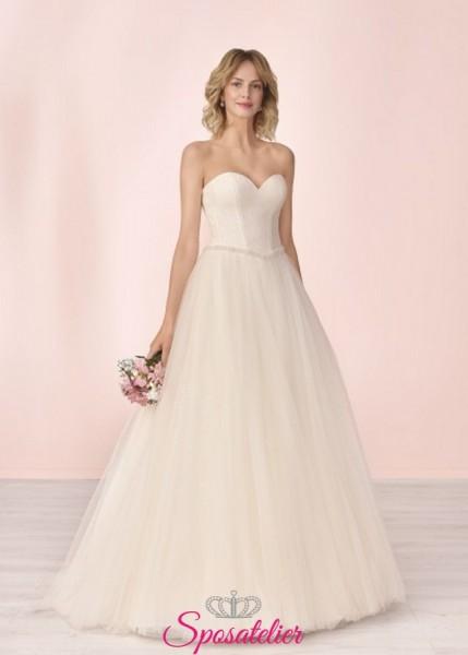 vestito da sposa economico online principesco con scollo a cuore