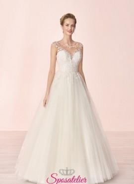 abito da sposa con gonna ampia collezione 2020
