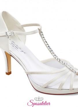 Scarpe sposa 2020 online avorio tacco 8 cm