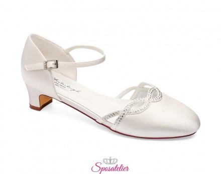 Scarpe sposa 2020 comode online avorio tacco 4 cm