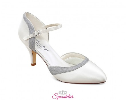 scarpe sposa tacco 7 online collezione 2020 avorio