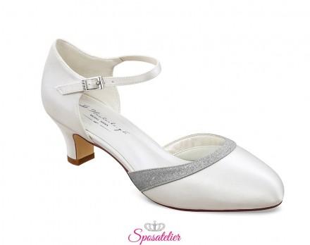 Scarpe da sposa comode tacco 5 cm online avorio