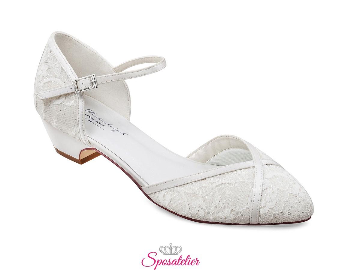 Scarpe Di Sposa.Scarpe Da Sposa Basse Tacco 3 5 Cm Online Collezione 2020
