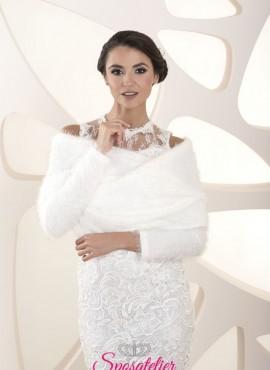 Coprispalle di pelliccia sposa matrimonio collezione 2020