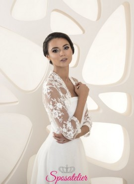 Coprispalle sposa in pizzo e tulle collection 2020