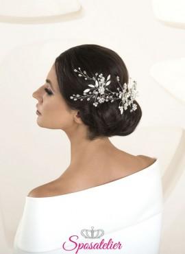 Accessori capelli sposa nuovi modelli 2020 cod. G57