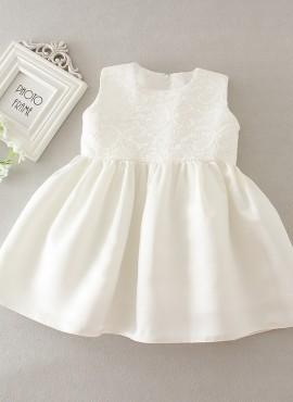 vestitino battesimo bianco con fiocco