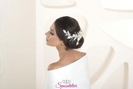 Fermaglio per capelli sposa collezione 2020 cod. s63