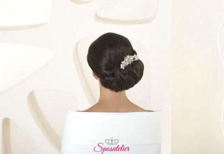 Decorazioni per capelli acconciatura sposa collezione 2020 cod. s66