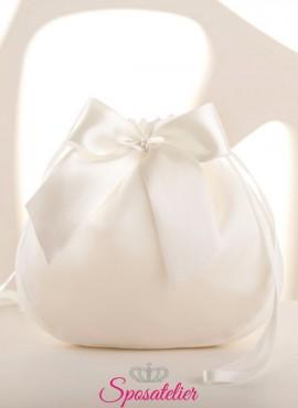 Borsetta sposa con fiocco collezione 2020 COD: T34