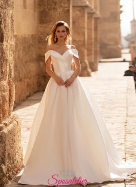 abiti da sposa 2021 in mikado con gonna ampia online