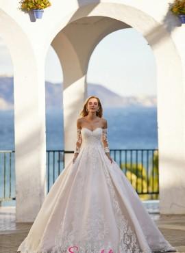 abiti da sposa 2021 da principessa con maniche in pizzo online