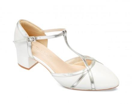 Doris- scarpe sposa 2021 online avorio comode con dettagli in pelle