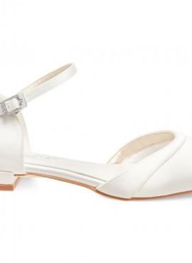 Lisa- scarpe sposa basse collezione 2021 online avorio tacco 1,7 cm