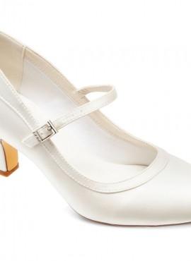 Sarah- scarpe sposa con tacco medio classica ed elegante collezione 2021 tacco 7 cm