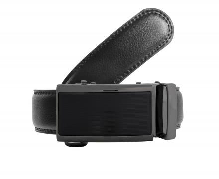 cintura elegante vera pelle colore nero black fibbia automatica senza buchi