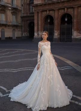 abiti da sposa online con scollo a barchetta 2021 da principessa