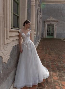 abiti da sposa online 2021 da principessa in pizzo con schiena scoperta