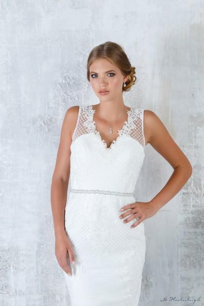 Cintura per abito da sposa color argento scintillante nuova collezione