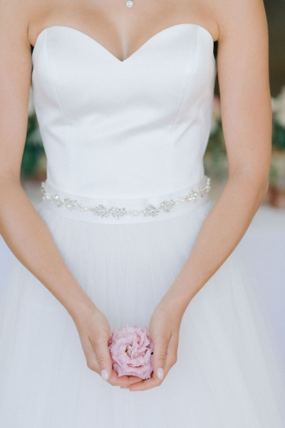 Cintura gioiello sposa decorata con cristalli e perle nuova collezione