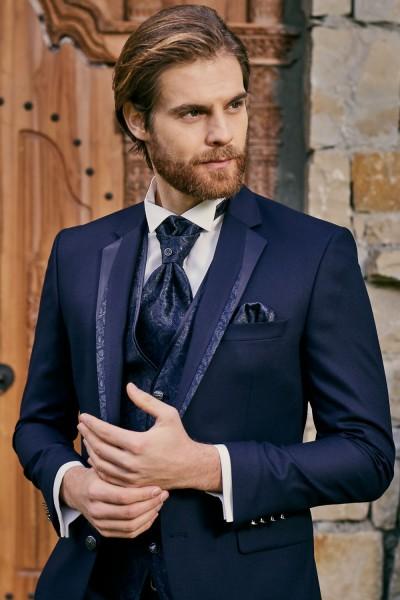 completo abito da sposo blu