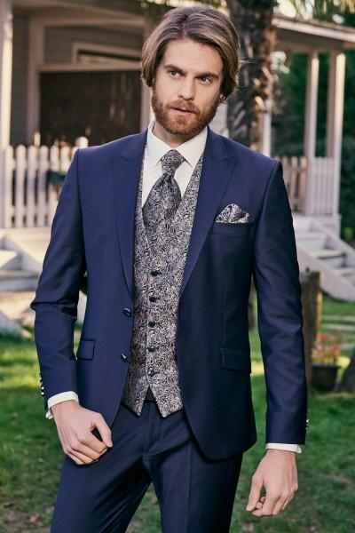 Vestito sposo scontato colore blu scuro nuova collezione 2021