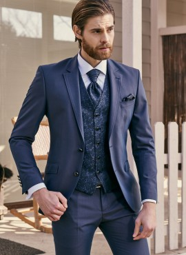 Abito da sposo 2021 completo elegante giacca cravatta gilet