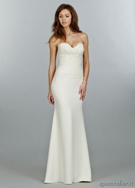abito da sposa semplice e raffinato
