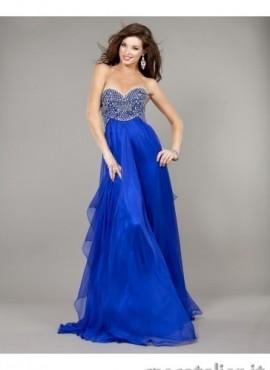 vestido de invitación de boda azul