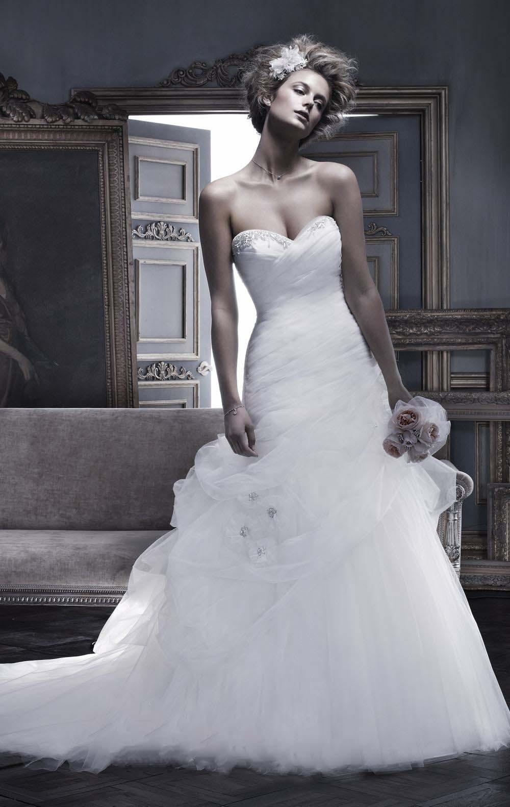 f640eaa483f9 Maria Mercedes abito sposa vaporosoSposatelier