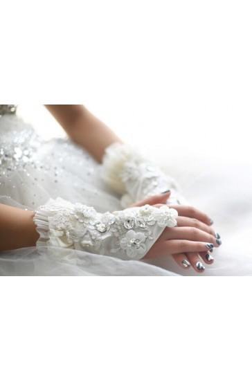 guanti sposa economici con decorazioni e strass