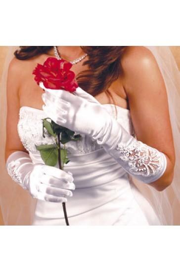 guanti sposa economici lunghi bianchi