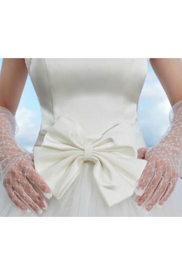 guanti sposa online tulle con decorazioni