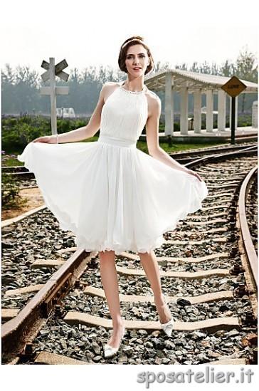 abiti corti da sposa prezzi bassi