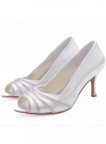 Scarpe  sposa online spuntate Tacco Medio